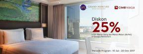 Diskon 25% di Hotel Grand Mercure Jakarta dengan Kartu Kredit CIMB Niaga