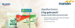 Gratis 2 Pak Gula Pasir dengan Mandiri Kartu Kredit di Hypermart