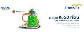Diskon Rp 50ribu di Happy Fresh dengan Kartu Kredit Mandiri