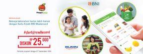 Diskon Rp 25.000 di HappyFresh dengan Kartu Kredit BNI
