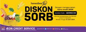 Diskon Rp 50.000 untuk Minimal Belanja Rp 300.000 di Honest Bee dengan Kartu Kredit AEON