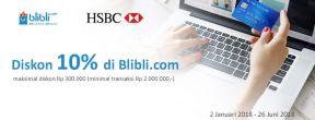 Diskon 10% di Blibli dengan Kartu Kredit HSBC