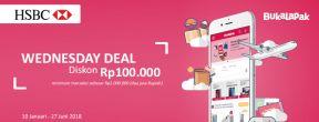 Wednesday Deal - Diskon Rp100.000 di Bukalapak dengan Kartu Kredit HSBC