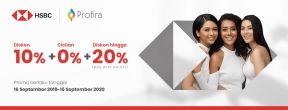 Diskon 10% + Cicilan 0% + Diskon hingga 20% (pay with points) di PROFIRA Clinic dengan Kartu Kredit HSBC