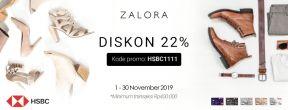 Diskon 22% di Zalora dengan Kartu Kredit HSBC