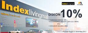 Diskon 10% di Index Living Mall dengan Kartu Kredit Mega