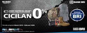 Cicilan 0% di Indo Tactical Gear dengan Kartu Kredit BRI
