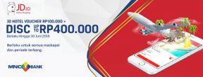 JDid Filght Diskon Hingga 400.000+Voucher Hotel 100.000 dengan Kartu Kredit MNC