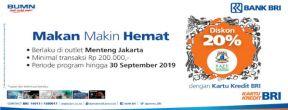 Diskon 20% di Pisa Kafe Menteng Jakarta dengan Kartu Kredit BRI