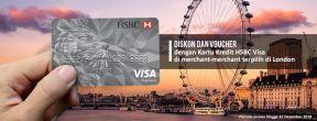 Diskon Hingga 20% di Merchant Pilihan di London dengan Kartu Kredit HSBC
