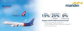 Diskon Sriwijaya Air dengan Kartu Kredit Mandiri