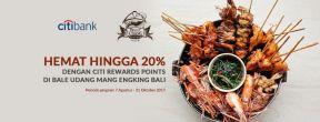 Hemat Hingga 20% dengan Citi Rewards Points di Bale Udang Mang Engking