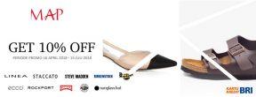 Diskon 10% MAP Fashion Footwear dengan Kartu Kredit BRI