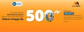 Diskon Hingga 500.000 di Airy Rooms dengan Kartu Kredit Mega