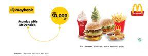 Potongan 50ribu di McDonald's dengan Maybank Kartu Kredit