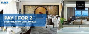 Bayar 1 untuk 2 menu di Gran Melia setiap hari Kamis hingga Minggu dengan Kartu Kredit BCA