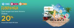 Diskon 20% Pesan Hotel+Kereta+Pesawat di Mister Aladin dengan Kartu Kredit MNC Bank