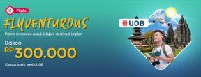 Diskon Rp 300.000 untuk Beli Tiket Pesawat di Mister Aladin dengan Kartu Kredit UOB