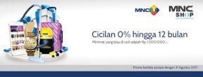 MNC Shop Promo Cicilan 0% Hingga 12 bulan dengan Kartu Kredit MNC