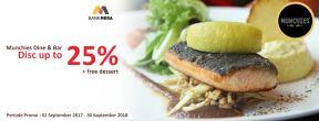 Diskon Hingga 25% di Munchies Jakarta dengan Kartu Kredit Mega