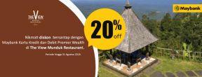 Diskon 20% di The View Munduk Restaurant dengan Kartu Kredit Maybank