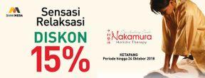 Diskon 15% di Nakamura dengan Kartu Kredit Mega