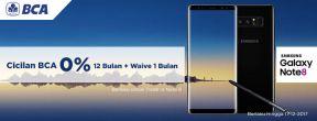 Cicilan BCA 0% 12 Bulan + Waive 1 Bulan untuk Pembelian Samsung Note 8 dengan Kartu Kredit BCA
