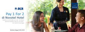 Pay 1 For 2 untuk Buffet Lunch di Novotel dengan Kartu Kredit BCA