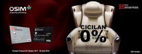 Cicilan 0% untuk Produk Unggulan OSIM dengan kartu kredit Bank Sinarmas