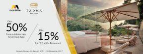 Diskon 50% di Padma Hotel Bandung dengan Kartu Kredit Mega