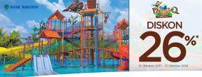 Diskon 26% di ParadisQ Waterpark Pontianak dengan Kartu Kredit Bukopin