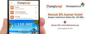Hemat 8% untuk Pesan Kamar Hotel di Pegipegi dengan Kartu Kredit Permata