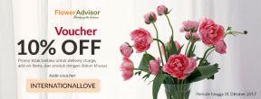 Kode Voucher Diskon 10% OFF di Flower Advisor untuk Semua Pelanggan