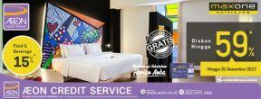 Diskon Hingga 59% di Maxone Hotel dengan Kartu Kredit AEON