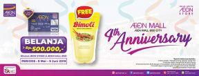 Gratis 1 Minyak Goreng untuk Transaksi Minimum Rp. 500.000,- dengan Kartu Kredit AEON