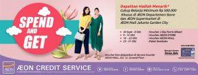 Hadiah Gratis untuk Pembelanjaan di AEON Mall dengan Kartu Kredit AEON