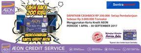 Cashback 200ribu di Sentra Ponsel dengan Kartu Kredit AEON