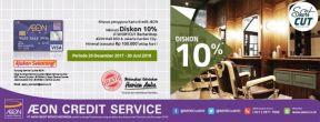 Diskon 10% di Short Cut Barbershop AEON Mall BSD & AEON Mall JGC dengan Kartu Kredit AEON