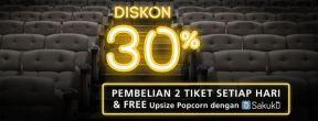 Diskon 30% Beli Tiket Flix Cinema dengan Kartu Kredit BCA