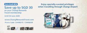 Hemat Hingga SGD30 untuk Pembelian Changi Rewards Travel dengan Kartu Kredit BCA