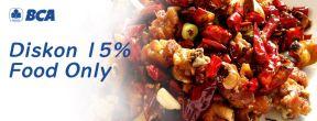 Diskon 15% Food Only di Chuan Xiang Shifu dengan Kartu Kredit BCA