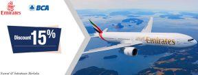 Diskon 15% Emirates dengan Kartu Kredit BCA