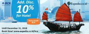 Diskon 10% di Expedia dengan Kartu Kredit BCA