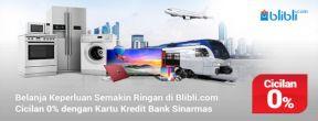Cicilan 0% di Blibli.com dengan Kartu Kredit Bank Sinarmas