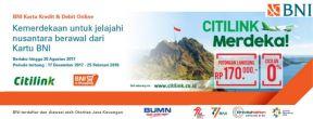Diskon 170ribu + Cicilan 0% Tiket Pesawat Citilink dengan Kartu Kredit BNI