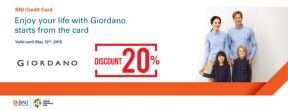 Diskon 20% di Giordano, Giordano Junior & Giordano Ladies dengan Kartu Kredit BNI