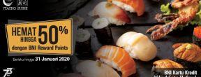 Hemat hingga 50% dengan BNI Rewards Point di Itacho Sushi