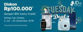 BNI Tuesday Deals JD.id Diskon 100.000 dengan Kartu Kredit BNI
