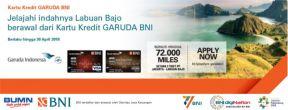 Apply Kartu Kredit BNI Garuda dan Terbang Gratis ke Labuan Bajo