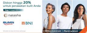 Diskon hingga 20% di Natasha Skin Clinic Center dengan Kartu Kredit BNI